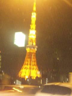 流れる東京タワー