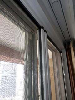 ル・サンク大崎シティタワーのテラス窓用網戸